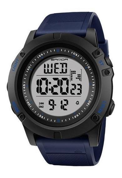 Relógio Sanda Digital Esportivo Feito Em Resina Azul
