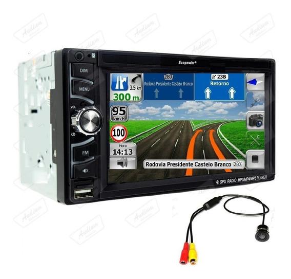 Multimídia Universal Com Gps 2 Din Bluetooth + Câmera Ré Usb