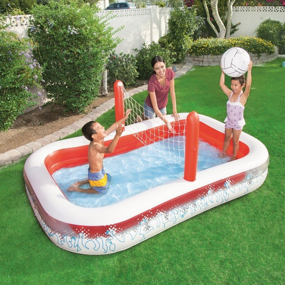 Piscina Inflable Con Red De Voleibol Bestway Inflate-a-volle
