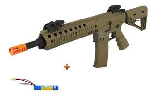 Rifle Airsoft Elét. Src M4a1 Sr4 St S. Tan + Lipo-ge1604dt