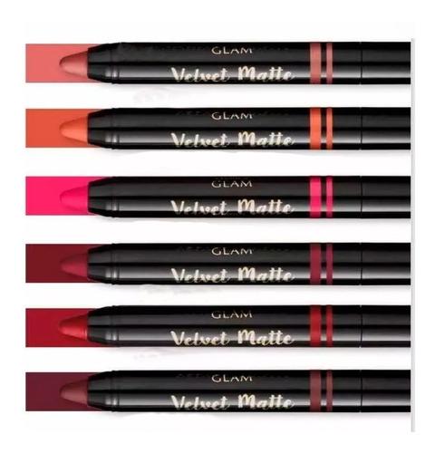 Imagem 1 de 3 de Batom Retrátil Velvet Matte Glam 1,8g