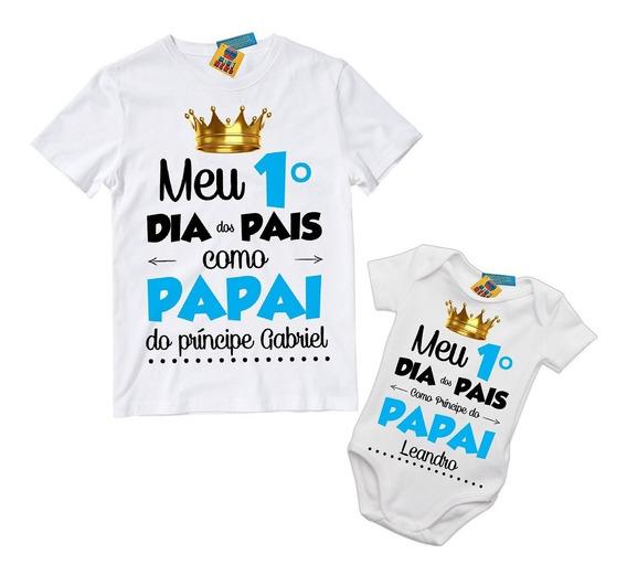 Kit 2 Camisetas Tal Pai Tal Filho Dia Dos Pais Com Nome