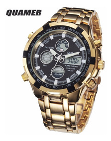 Relogio Masculino Militar Digital Led Gold/black Ad1049