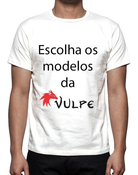Kit 2 Camisas, Camisetas Estampa Total Modelos Da Vulpe