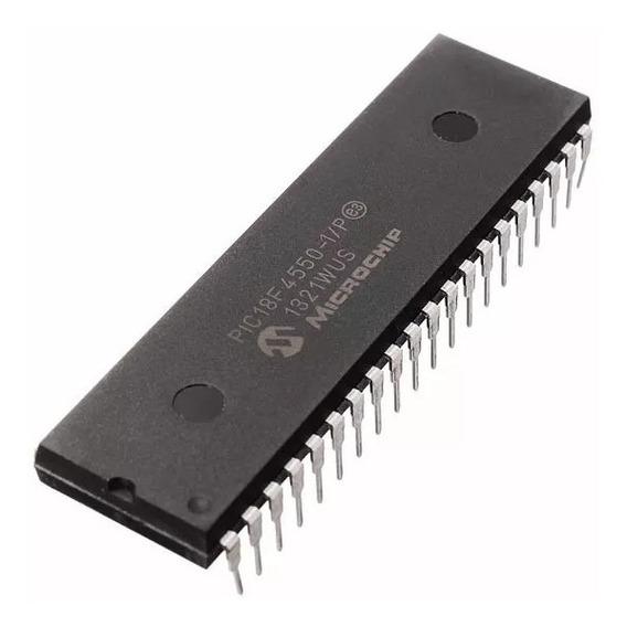 Microcontrolador Pic18f4550 Microchip Dip 40