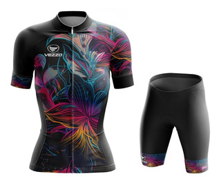Conjunto Ciclismo Bike Feminino Abstract