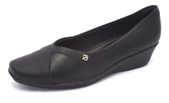 Sapato Feminino Piccadilly Preto Para Joanete - 144050