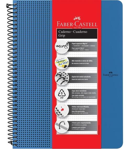 Caderno Universitário Grip Azul 80 Fl 1 Un Faber Castell