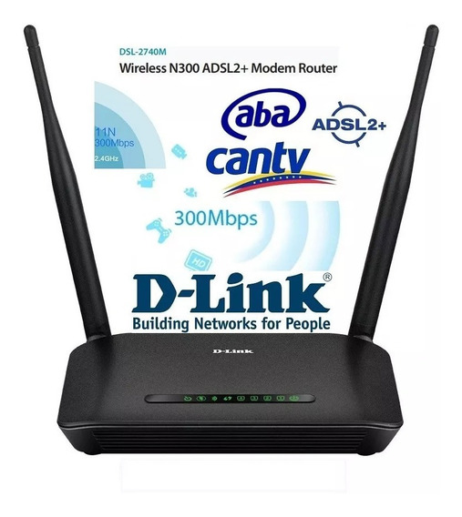 Modem Wifi Router 300 Mbps Dsl-2740m Dlink Adsl2+ Cantv Aba