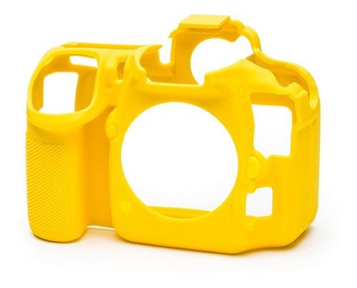 Carcasa Silicon Easycover Amarillo Nikon D500 + Mica Lcd
