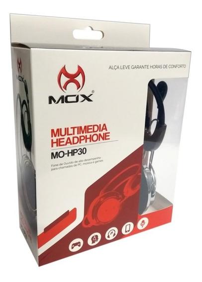 Headphone - Fone + Microfone Para Pc Mo-hp30 Alta Qualidade