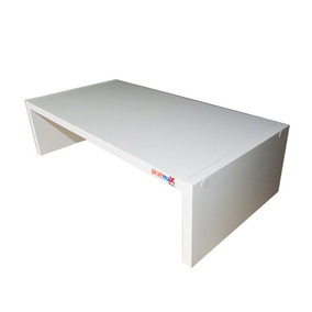 Suporte Para Monitor E Telas Em Mdf Branco - 48x24x12