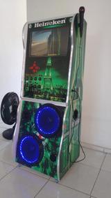 Maquina De Musica Jukebox E Karaokê Videoke 19 Polegadas