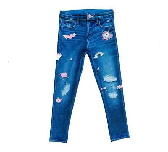 Calza Nena, Leggins Lycra, Unicornio, Símil Jeans