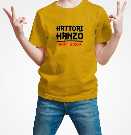 Playera Hattori Hanzo Samurai Ninja Niño