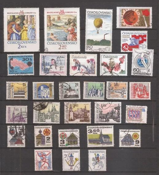 Lote Com 29 Selos Tchecoslováquia - Diversos Comemorativos