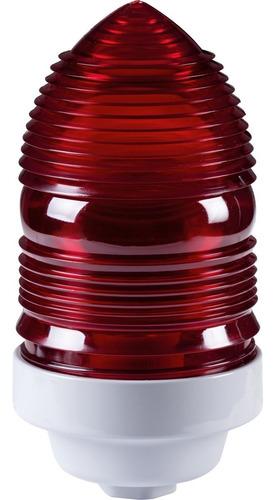 Imagem 1 de 3 de Sinalizador Predio 60w Vermelho Eletro Tramontina 56154001