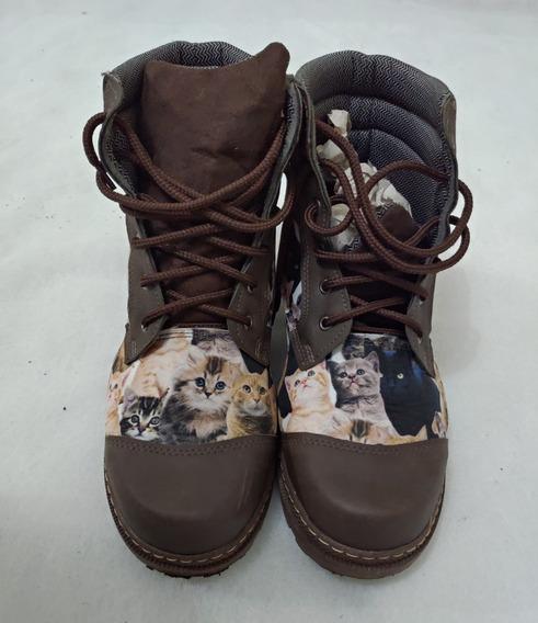 Bota De Gatinhos Vegano Shoes - Tamanho 40