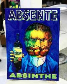 Poster Vintage Absinto Absenthe Van Gogh Arte Decoração Casa