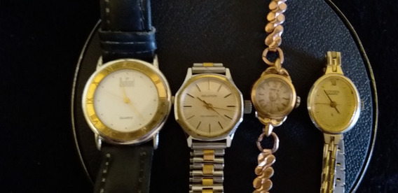 Lote De 4 Relógios De Pulso Dumont-omodox-citizen-