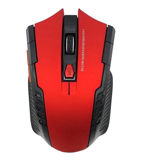 Mouse Gamer Wireless 2.4 Ghz 6 Botões Sem Fio 2000 Dpi