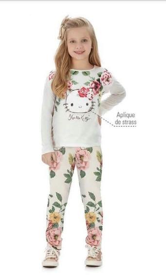 Blusa Infantil Manga Longa Hello Kitty