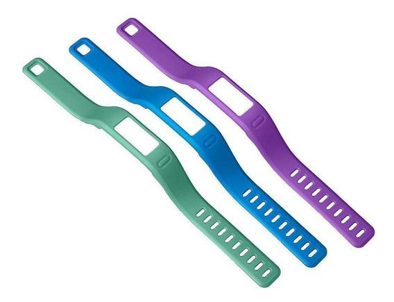 Kit 3 Pulseiras Garmin Vivofit 1 Azul Verde Roxo