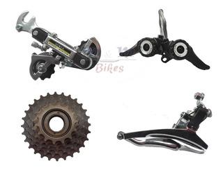 Kit Completo De Cambios Para Bicicleta 18 O 21 Vel + Piñon