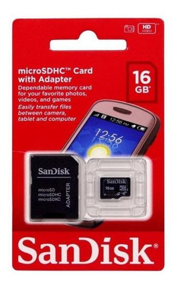 Cartão De Memória Micro Sd Sandisk 16gb Original Lacrado