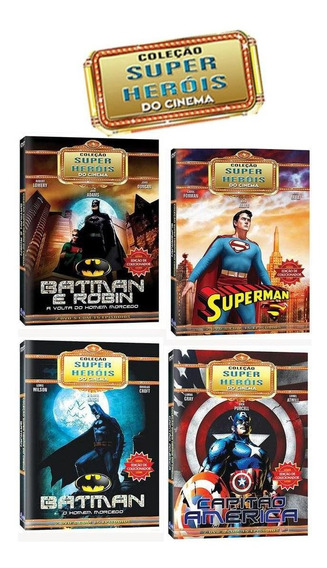 Coleção 5 Dvds Super Heróis Do Cinema Superman Batman