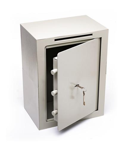 Caja Fuerte 40x30x20 Cm Buzon Abulonar Pared Vertical A4 C/b