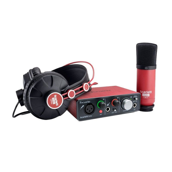 Kit Interface Microfone E Fone Kit Scarlett Solo Focusrite