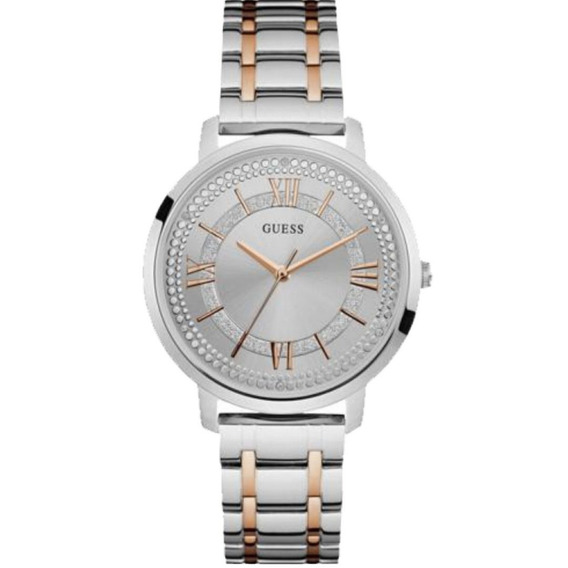 Relógio Feminino Guess 92635lpgdga6 Prateado Detalhes Rosé