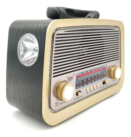 Rádio Antigo Retrô Am Fm Analógico Usb Recarregável Bivolt