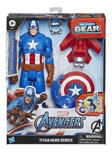 Avengers Capitão América Figura Articulada Blast Gear Hasbro
