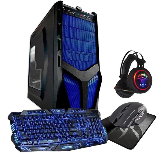 Pc Gamer Quadcore 8gb Ram Hd 500gb Video 2gb + Acessorios