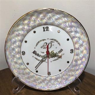 Relógio Bodas Porcelana 20 Anos Casamento P100