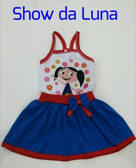 Vestido Infantil Menina Personagens Show Da Luna Galinha