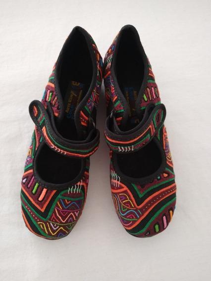 Zapatos En Tejido De Mola Colombiana Mujer