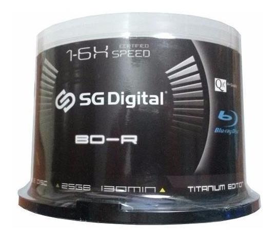Combo Discos Blu-ray Sg-digital 25 Gb Printeable 1-6x