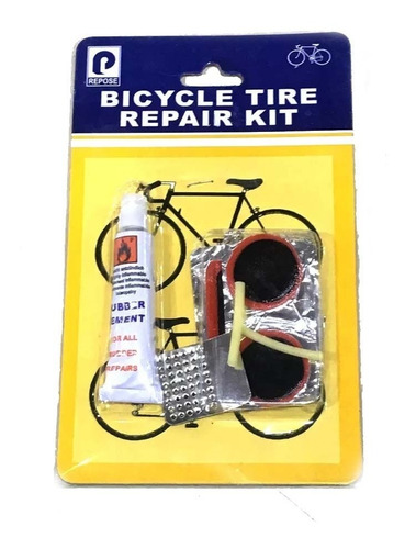 Kit De Parche Y Solución P/ Reparar Bicicletas