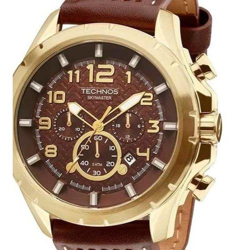 Relógio Masculino Technos  Couro Js25bg/0m Garantia + Nf
