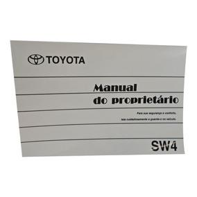 Manual Original Do Proprietário Da Sw4 + Brinde