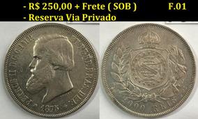 2000 Réis De 1875 - Sob - Prata - Moeda Do Império