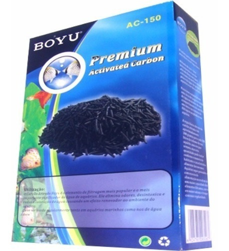 Carvão Ativado Premium Boyu Peletizado 1kg - Ac-1000