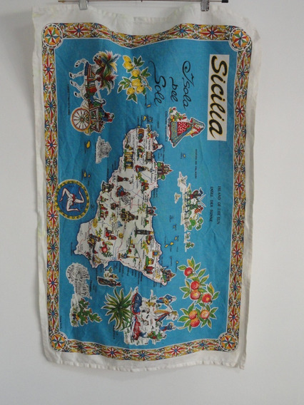 Repasador Sicilia Italia Mapa 87x55cm