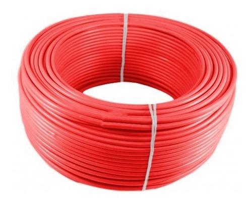 Imagen 1 de 1 de Alambre O Cable Rígido N14'' Rojo X 100 Metros Procables