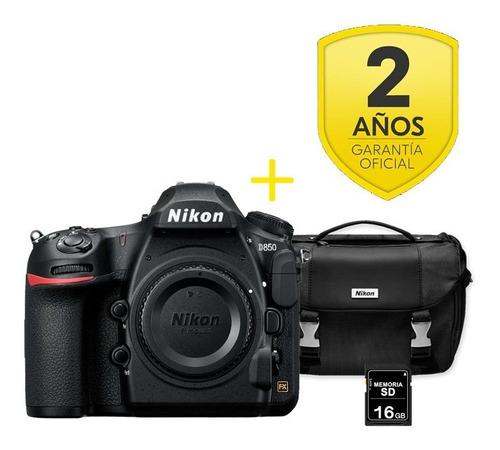 Cámara Nikon D850  Solo Cuerpo Sd 16 Gb + Maletín