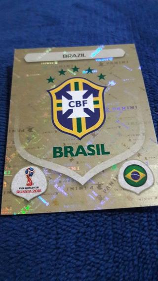 Figurinha 352 Escudo Brasil Copa Russia 2018 Cromada