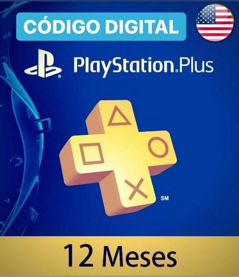 Psn Plus Usa 100% Original 1 Año (12 Meses) - Marketg4mes